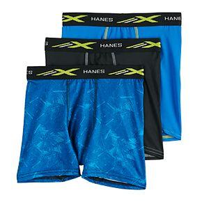 Boys 4-20 Hanes Ultimate Xtemp Performance 3-Pack Boxer Briefs