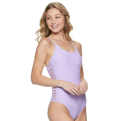 Cutout Side One Piece Swimsuit by Kohl's