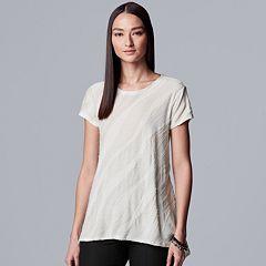 Women's Petite Simply Vera Vera Wang Texture Tee