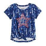 Baby Girl Jumping Beans® Patriotic Knot-Front Top