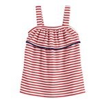 Baby Girl Jumping Beans® Patriotic Pom-Trim Tank Top