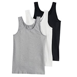 Girls 6-16 SO® 3-pack Seamless Tank Tops
