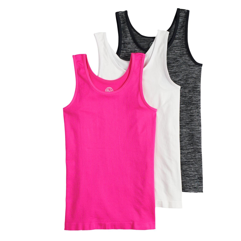 benetia Girls Tank Undershirts 3-Pack