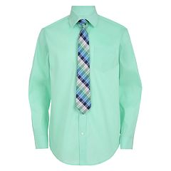 Boys 4-20 Chaps Shirt & Tie Set