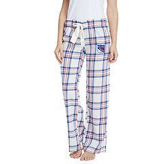 Women's New York Rangers Flannel Pants