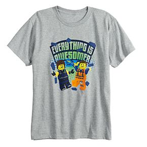 """Boys 8-20 The Lego Movie 2 """"Everything is Awesomer"""" Tee"""