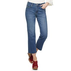 Juniors' American Rag High-Waisted Crop Wide-Leg Jeans