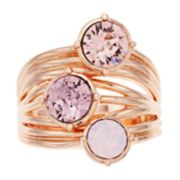 Brilliance Crystal Stacked Ring with Swarovski Crystals