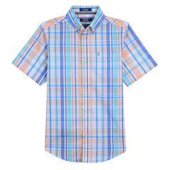 0e6a58a61 Boys 8-20 IZOD Island-Themed Button-Down Shirt