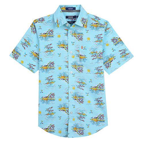 Boys 8-20 IZOD Island-Themed Button-Down Shirt