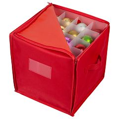 Simplify Stackable Christmas Ornament Storage Box - 64 count