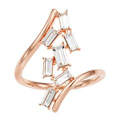 Brilliance Abstract Crystal Ring with Swarovski Crystals