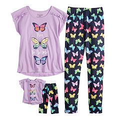 7b7a49a8f Girls Matching Doll Set Kids Pajama Sets - Sleepwear