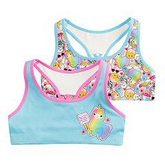 58195f96d9b6f Girls 6-16 Mush 2-pack Llama Seamless Sports Bras