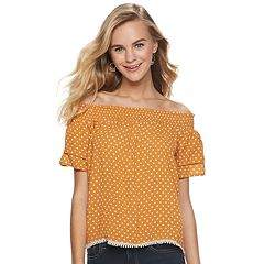 343d2f7119941 Juniors  Rewind Off-the-Shoulder Top