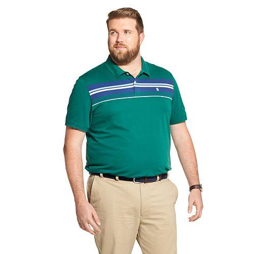 Big & Tall IZOD Sportswear Advantage SportFlex Classic-Fit Performance Striped Polo