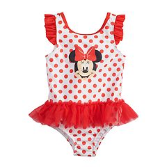 2ff4c12323 Disney's Minnie Mouse Baby Girl Tutu One-Piece Swimsuit by Dreamwave