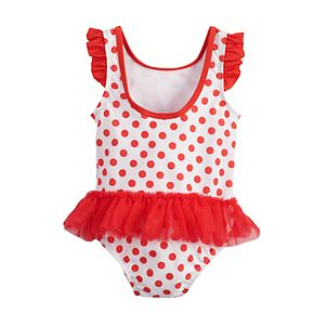 Disney's Minnie Mouse Baby Girl Tutu One-Piece Swimsuit by Dreamwave