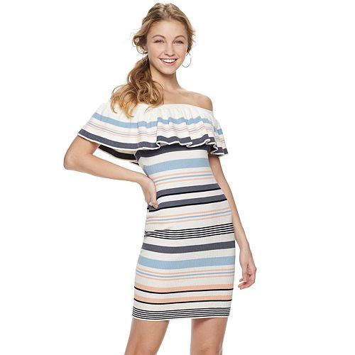 Juniors' Almost Famous Flounce Dress