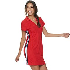 Juniors' Almost Famous Johnny Collar Dress