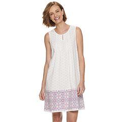 Women's Croft & Barrow® Pintuck Keyhole Nightgown