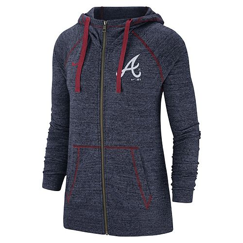 Women's Nike Atlanta Braves Full Zip Fleece