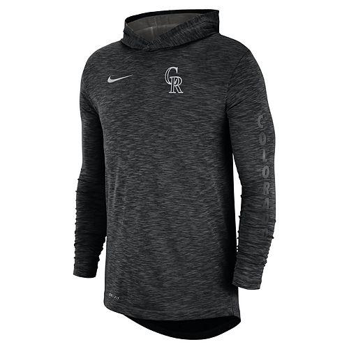 Nike Men's Colorado Rockies Dri-FIT Slubbed Logo Hoodie