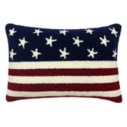 Celebrate Americana Together Hooked Flag Oblong Throw Pillow