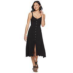 053dddb291 Juniors  SO® V-Neck Button Front Midi Dress