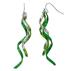 Ballet Group Inc. St. Patrick' Day Twisted Linear Earrings