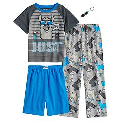Boys 4-10 Up-Late Lama 3-Piece Pajama Set