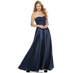 Juniors' Speechless Strapless Maxi Dress
