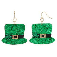 Ballet Group Inc. Leprechaun Hat Drop Earring