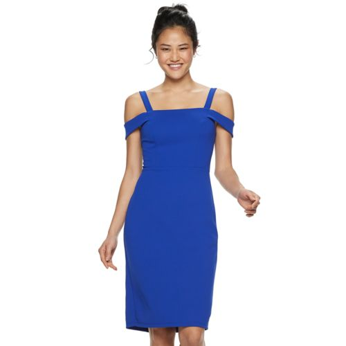 Juniors' Speechless Off The Shoulder Bodycon Dress by Kohl's