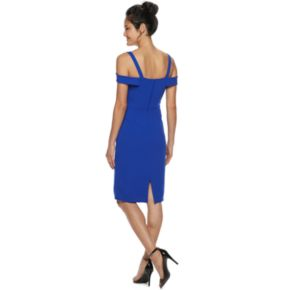 Juniors' Speechless Off-the-Shoulder Bodycon Dress