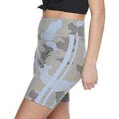 Juniors' SO® Long Side Piecing Bike Shorts