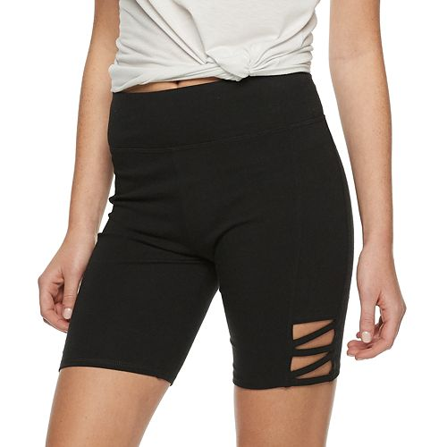 Juniors' SO® Side Cutout Bike Shorts