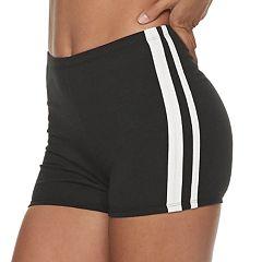 Juniors' SO® Dual Stripe Shortie Shorts