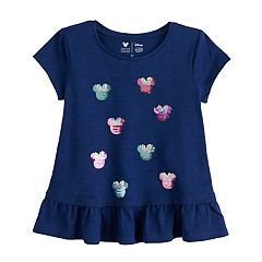 Disney's Minnie Mouse Toddler Girl Ruffled Hem Graphic Tee by Jumping Beans®