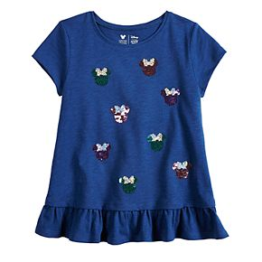 Disney's Minnie Mouse Girls 4-12 Flip Sequins Ruffled Hem Graphic Tee by Jumping Beans®