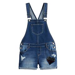 a8865f384ed Girls 7-16 & Plus Size SO® Embellished Shortalls