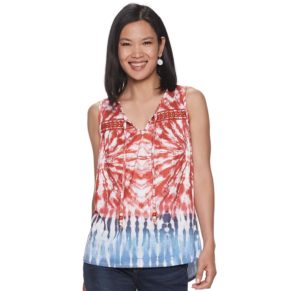 Women's World Unity Tye Dye Printed Top