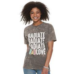 Juniors' 'Radiate Rad Love' Pride Graphic Tee