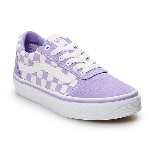 80fefaefae6 Vans Ward Girls  Checkered Skate Shoes