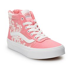 Vans Ward Hi Zip Girls' Flowers Skate Shoes