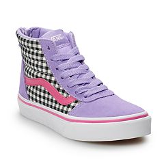 2271bb3eb768fd Vans Ward Hi Zip Girls  Checkered Skate Shoes
