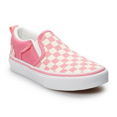 283566d281fe Vans Asher Girls  Checkered Skate Shoes