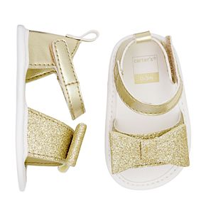 Baby Girl Carter's Glitter Sandal Crib Shoes