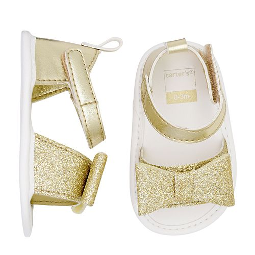 Baby Girl Carter's Glitter Sandal Crib Shoes