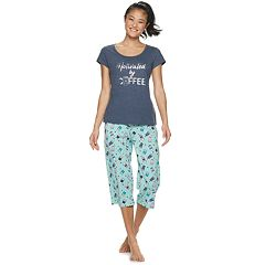 Women's Be Yourself Sleep Tee & Capri Pajama Set